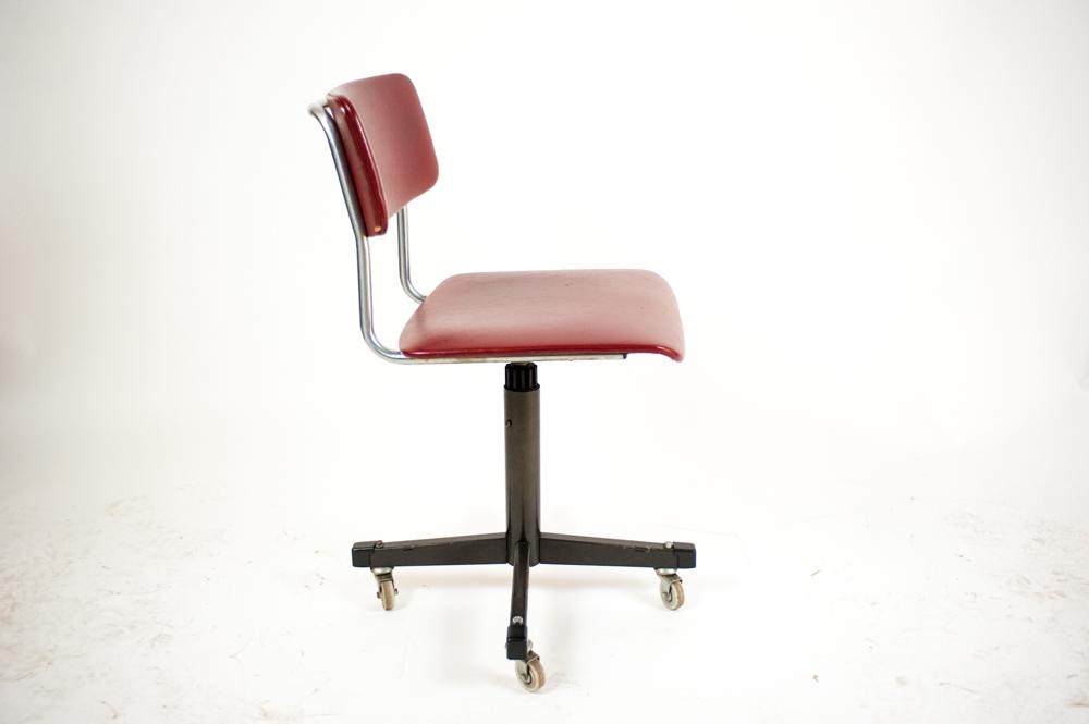 Vintage gispen bureaustoel cosmic design for Bureaustoel vintage